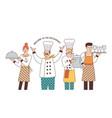 restaurant team good service vector image vector image
