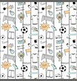 russian football doodle striped seamless pattern vector image vector image