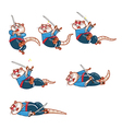 Samurai Mouse Dying Sprite vector image vector image