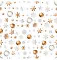 seamless background with winter holiday elements vector image vector image