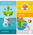 Set of eco nature flat design concepts banners vector image