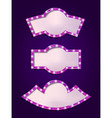 Set of glowing retro frames vector image vector image