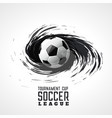 soccer tournament abstract swirl grunge background vector image vector image