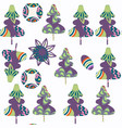 spruce-tree seamless pattern it is located in vector image