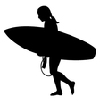 Surfer girl silhouette vector | Price: 1 Credit (USD $1)