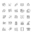 tv and media news icons set vector image vector image