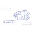 video blog camera online stream blogging subscribe vector image vector image