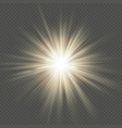 warm glow star burst flare explosion transparent vector image