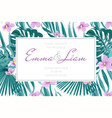 wedding marriage invitation card template border vector image