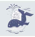 Whale and sea rotection preservation symbol vector image vector image