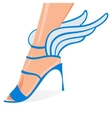 Winged woman shoes vector image vector image