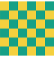 Yellow Green Chess Board Background vector image vector image