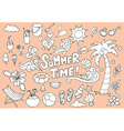 Summer Fun Hand Drawn Doodles Sketch vector image