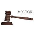 judge gavel isolated on white photo-realistic vector image