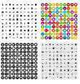 100 development icons set variant vector image vector image