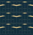 abstract geometric seamless patterngolden cubes vector image vector image