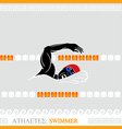 Athlete Swimmer vector image