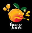 Banner for orange juice with orange fruit