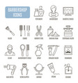 barbershop icons set of pictogram vector image vector image