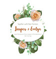 beautiful floral frame for wedding invitation vector image vector image