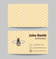 Beekeeper natural honey card vector image vector image