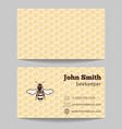 Beekeeper natural honey card vector image vector image