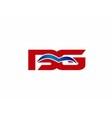 BG letter logo vector image vector image