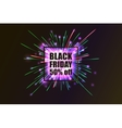 Black Friday Fireworks discounts vector image vector image