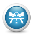Car Crash Glossy Icon vector image vector image