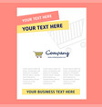 cart title page design for company profile annual vector image vector image