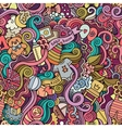 Cartoon doodle children seamless pattern vector image vector image