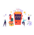 casino and gambling concept people characters vector image vector image