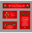 Christmas red cards different sizes and shapes vector image