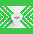 clean template for advertising with green arrows vector image vector image