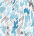cold color geometric seamless pattern vector image vector image
