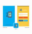 Company money through smartphone splash screen