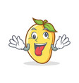 crazy mango character cartoon mascot vector image vector image