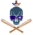criminal tattoo gang emblem or logo with vector image