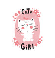 cuta cat vector image vector image