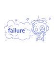 cute robot error broken modern artificial vector image