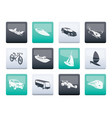 different kind of transportation and travel icons vector image vector image