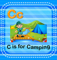 flashcard letter c is for camping vector image vector image
