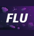 flu concept banner cartoon style vector image vector image