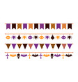 halloween garland colorful flat flags different vector image