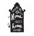 House with phrase sweet home vector image vector image