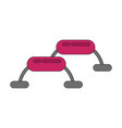 icon in flat design steps for fitness vector image