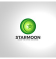 islamic star moon 3d logo vector image vector image