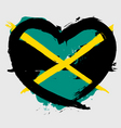 Jamaica heart shape flag vector image