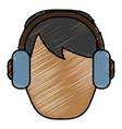 man with headphones icon