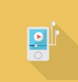 music player icon set of great flat icons with vector image vector image